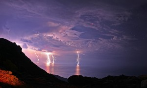 greek islands lightning