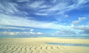 sand rippled sky desert