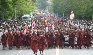 burma monks march