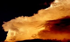 cloud mountain orange