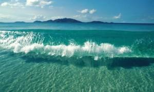 crystal blue water