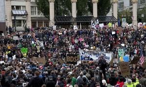 occupy portland crowd
