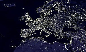 europe at night