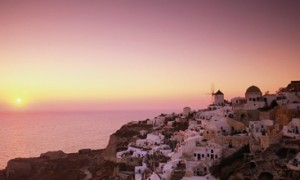 greecian sunset