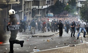 greek debt riots