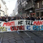 """The Technocratic Revulsion Begins: Photos And Video As Thousands Of Italians Protest Monti's """"Banker"""" Government"""