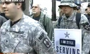 military occupy wall street