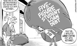 student debt cartooon