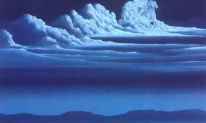 white cloud painting