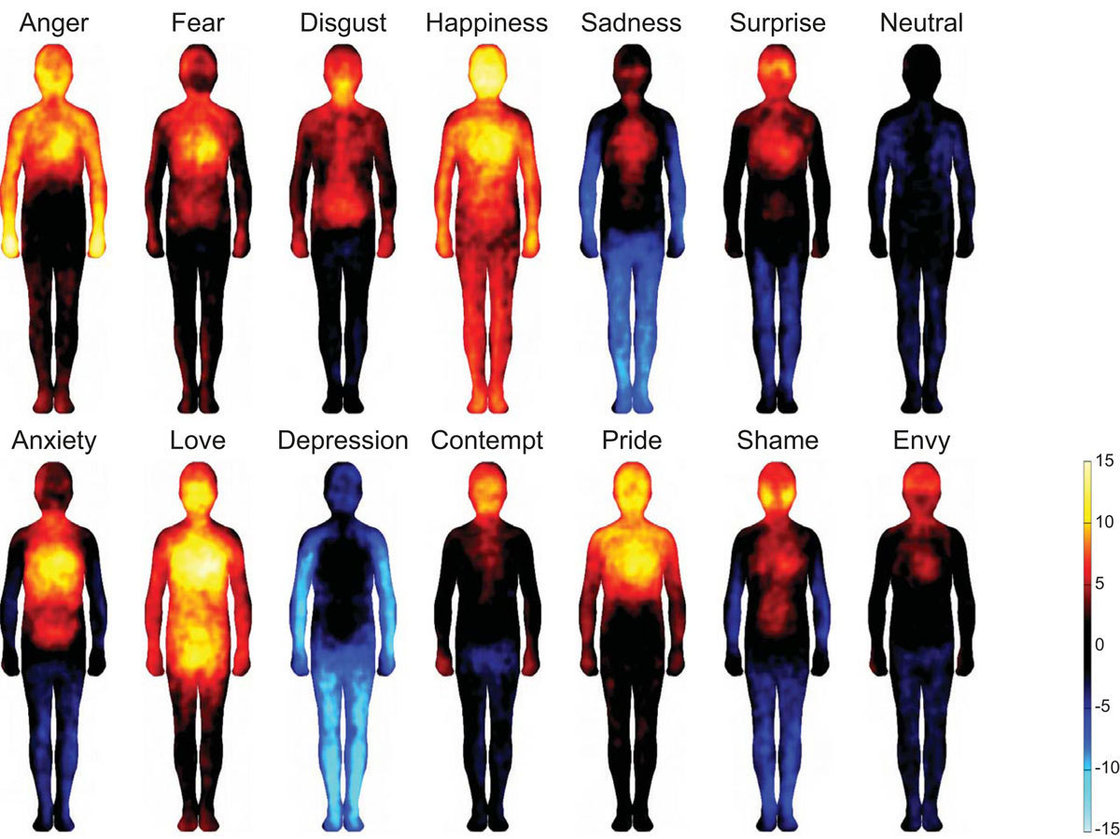 emotions in the body map