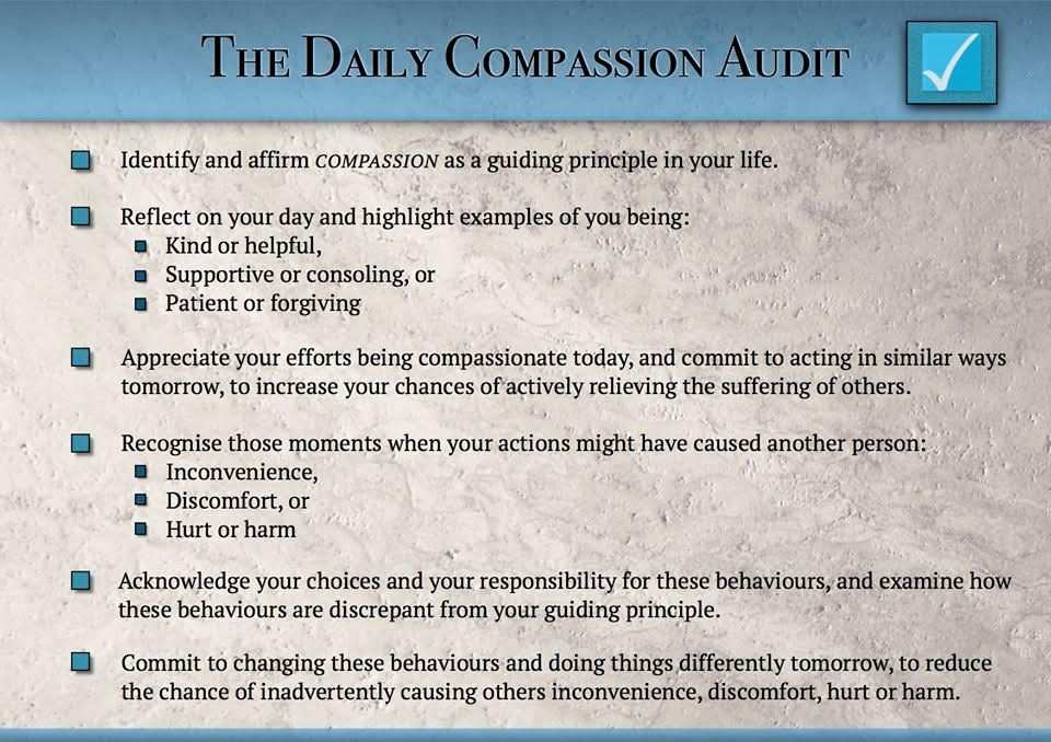 Daily Compassion Audit